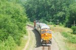 BNSF O TopTop Railpax train