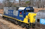 CSX 1540 Pulls FRA test car t-16 (dotx216)