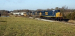 CSX 739 passes throuh country side