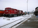 Westbound Intermodel ready to depart after making crew change with Via comming up from Brockville on its way to Ottawa