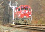 CP 5420 passing signal tower at CP Banks