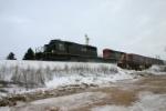 IC 6130 kickin up snow