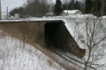 Brunnel that carriers a road and GB&W over the Soo Line