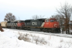 CN 5781 waits in the hole