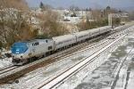 Eastbound Amtrak engine number 19
