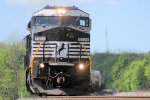 Eastbound manifest 14G rumbles past with an Ex-Conrail C40-8W leader