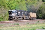 A pair of ex-Conrail SD60I's lead westbound empty hopper train 539