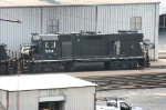 This GP38-2, seen adjacent to the engine shops, seems to be  missing something....