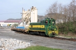 SW9 # 239 pulls cars from High Steel Structures Co. on the Williamsport Industrial, adjacent to Newberry yard