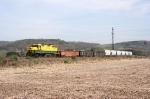"""Looking more like 1969 than 2010, the """"Avis turn"""" with Lycoming Valley GP 35 # 5514 rumbles thru the farmlands"""