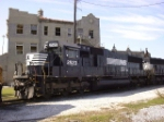 NS 2523 beside the GM&O Depot (this track is now gone)