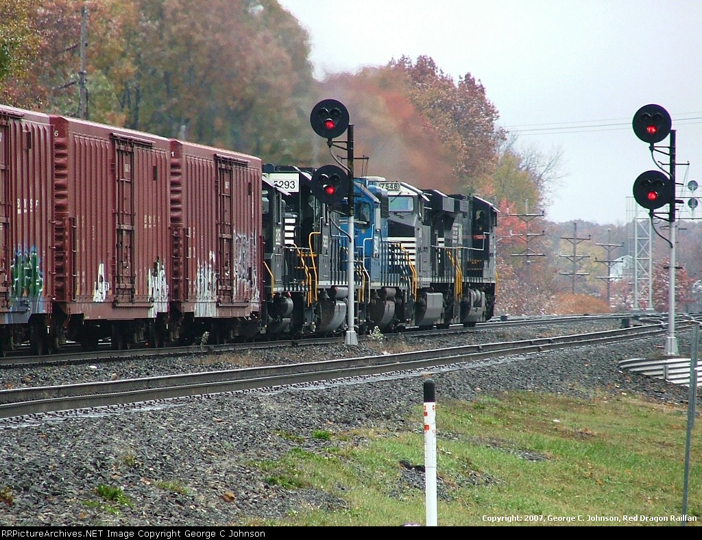 Passing the eastbound signals
