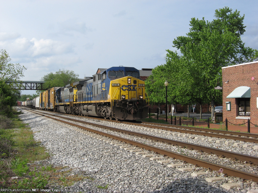 SB freight Q581 with engineer Jeff