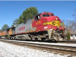 SB freight Q595 reroute with Warbonnet leader