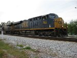 SB coal train accelerating out of Acworth with Conductor Mike