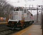 NJT 1002 heading west in the rain