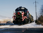 A Norfolk Southern unit on the Conrail 2005 Browns Yard Santa Train