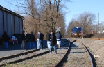 A gathering of railfans