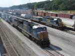 SB freight Q541 passes the Tilford hump job