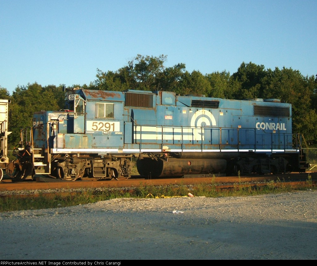 NS 5291 is coupled to a tie train