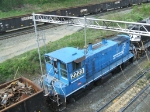 NS 2223 seen shifting the west end of the yard