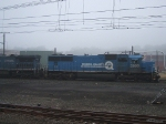 NS coal train 852 passes CP HBG with 2580 & 8308 both in blue