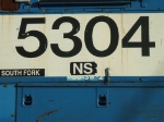 Note the SD38-2 class sticker on this NS GP38-2