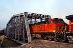 BNSF C44-9W 4867 is the second unit on this eastbound auto rack train