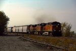 BNSF C44-9Ws 4371 and 4877, along with B40-8 8639, lead an eastbound