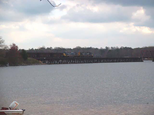CSX Train N201-02 crossing Lake Greenwood