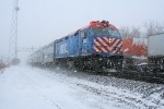 METX 185 blasting through the snow