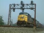 Eastbound ballast train.
