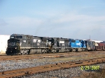 NS 8366 leads south bound freight