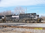 NS 8998 leads NS train at 32nd street