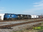 NS 8362 leads southbound at 32nd street