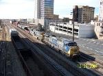 CSX 207 leads CSX train 680 past Amtrak shed