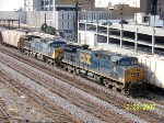 CSX 91 leads northbound grain train