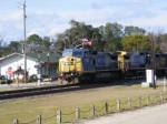 CSX 7753 rolls past the Old Folkston Station