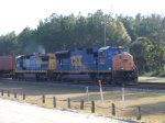 CSX 4744 highballs thru Folkston