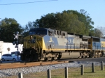 CSX 19 passes thru downtown Folkston