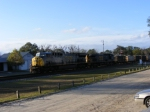 CSX 631 and CSX 61 lead a rock train