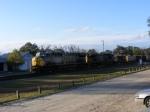 CSX 631 and CSX 61 lead a rock train