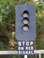 An old signal at the Folkston Platform