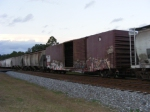 1 of the 2 old boxcars on this train