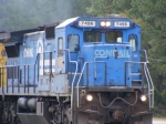 Ex. Conrail unit leads this rock train