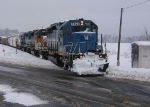 GSCX 7369 with CEFX 3715 & GSCX 7362 are southbound at the railroad crossing