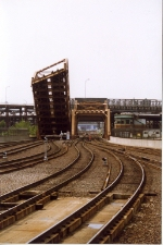 View of drawbridge in North Station