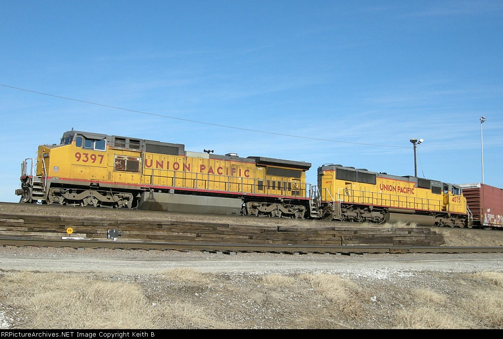 UP 9397 and 4075