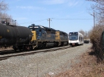 NJT 3509 and CSX 8834