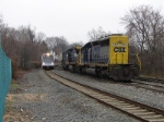 CSX 8824 and NJT 3502